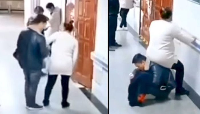 China: Video Of Husband Becoming 'human Chair' For Pregnant Wife Breaks Internet