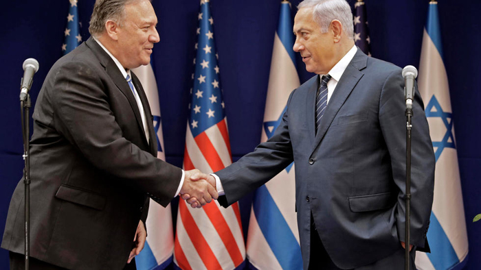 Israel's Netanyahu presses Mike Pompeo for more pressure on 'tottering' Iran
