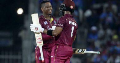 Hetmyer,Hope centuries put West Indies 1-0 up