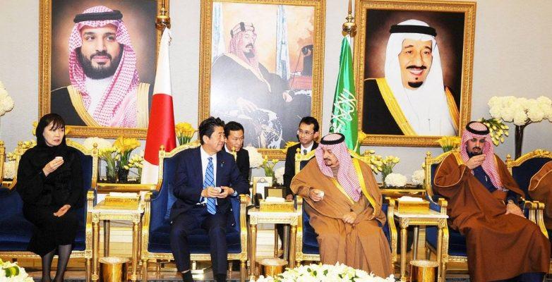 Japan PM Shinzo Abe meets King Salman in Riyadh and crown prince in AlUla