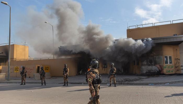 Three rockets hit US embassy in Baghdad