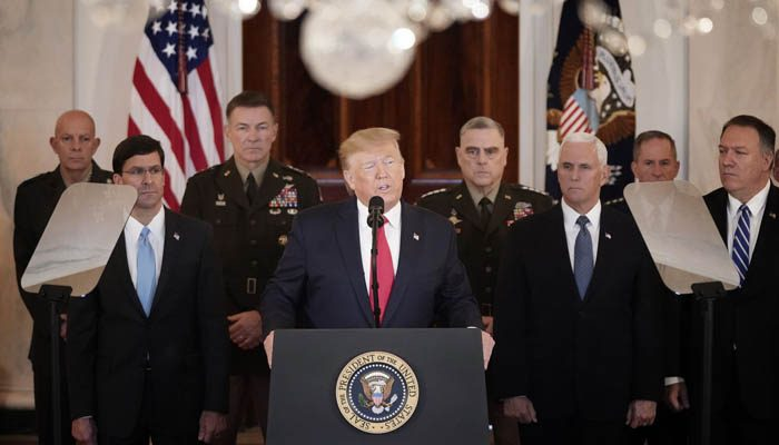 Trump says Iran standing down, US 'ready to embrace peace'