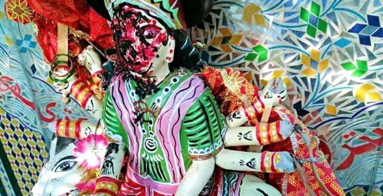 Hindu temple attacked in Pakistan Mata Rani Idol damaged