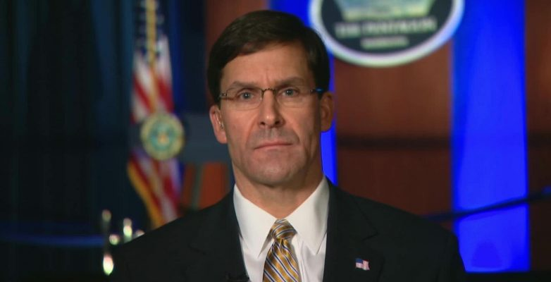 Esper says he saw no evidence Iran was plotting to attack US embassies